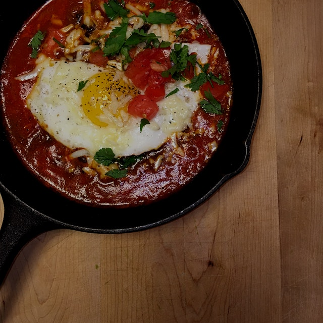 Breakfast time!  #GetReal #breakfast   This one is simple- heat up some tomato sauce in a pan, ad...