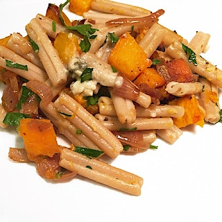 Squash Pasta with Roquefort Cheese