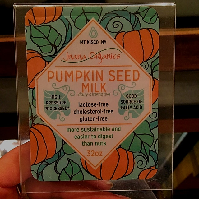 Big fan of pumpkin seed milk and want to try and make some. Grateful local coffee shop is serving...