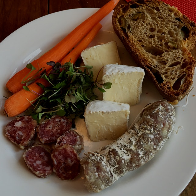 Saucisson d'Arles pork sausage from Jacüterie (Jackiscooking LLC, Ancramdale NY) and Nimbus, a ne...