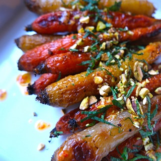 Roasted Multicolored Carrots