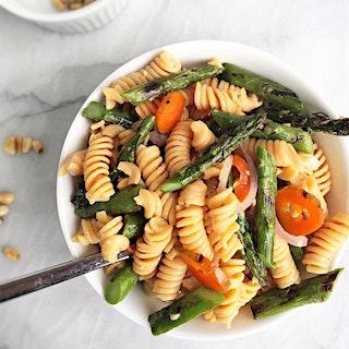 Charred Asparagus Pasta Salad