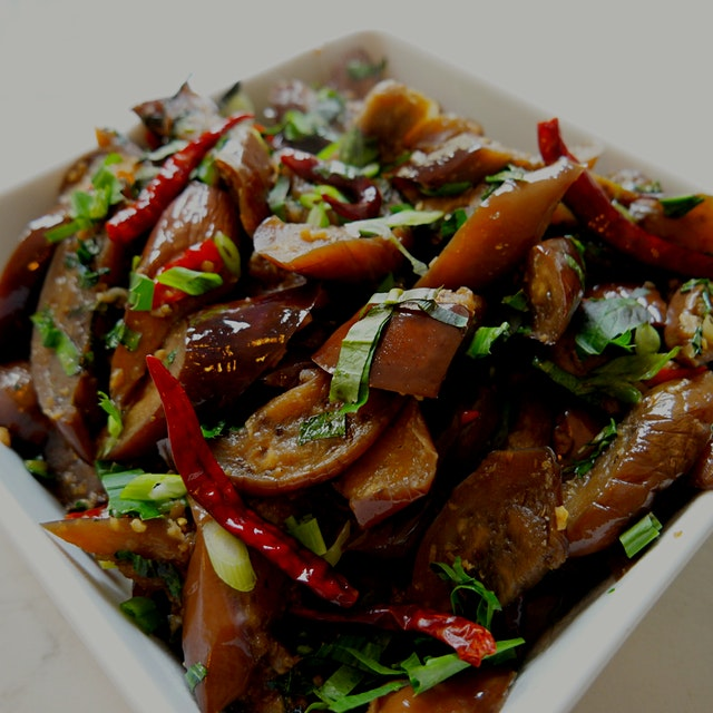 If you love Japanese eggplant and spice this is such a delicious meatless dish.  Recipe: www.face...