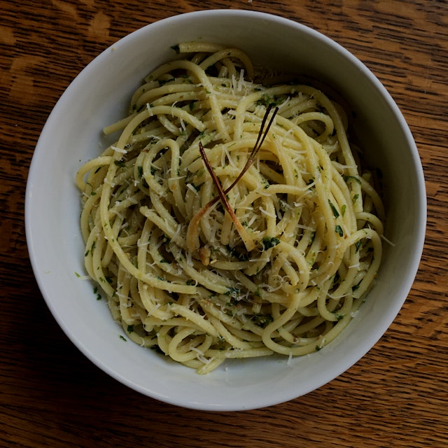 Got my hands on some ramps from work and made this delicious pesto, Oh how I love spring! #FoodRe...