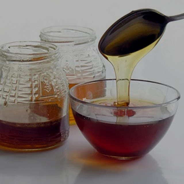 """""""Pure maple syrup and honey are commonly labeled as healthy and natural sweeteners -- often as an..."""