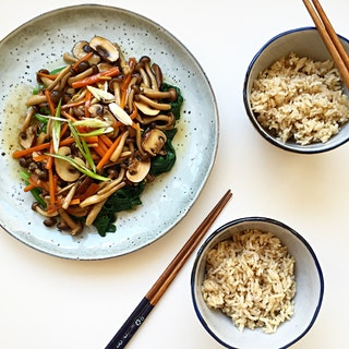 Braised Mixed Mushrooms with Choy Sum