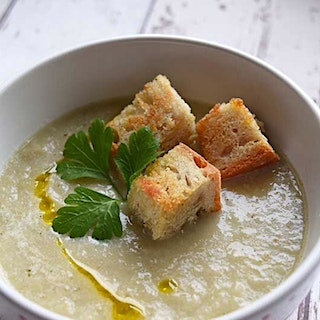 Roasted Fennel and Broccoli (Stem) Soup
