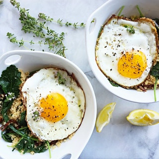 Kale and Couscous Breakfast Bowl