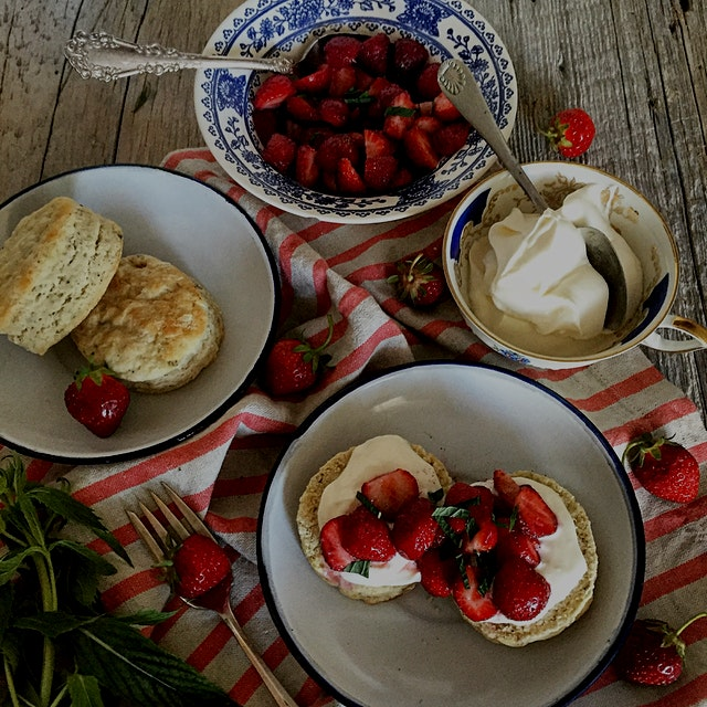 """""""There is something so adorably comforting about fresh biscuits. Their flaky texture, warm from ..."""