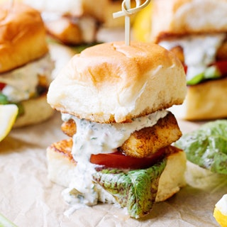 Blackened Barrmundi Sliders with Lemon Tartar Sauce