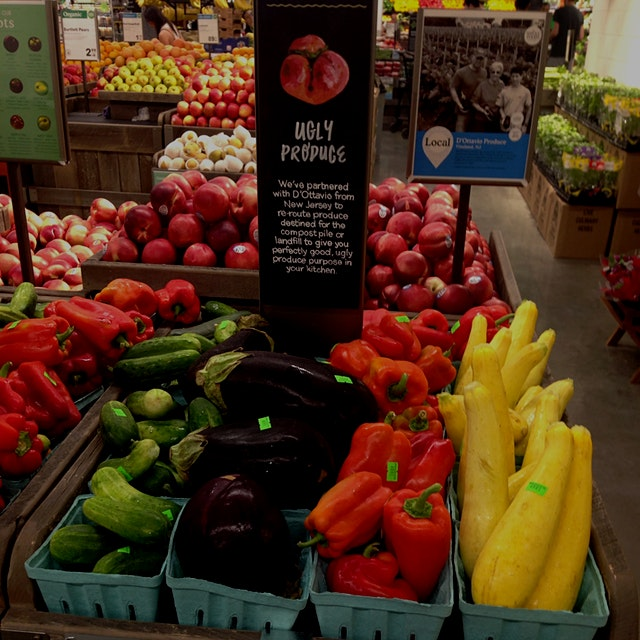 Thrilled to see you can get ugly produce at Whole Foods now. Limited but a start! #NoFoodWaste