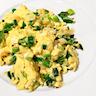 Cheesy Scallion Scrambled Eggs