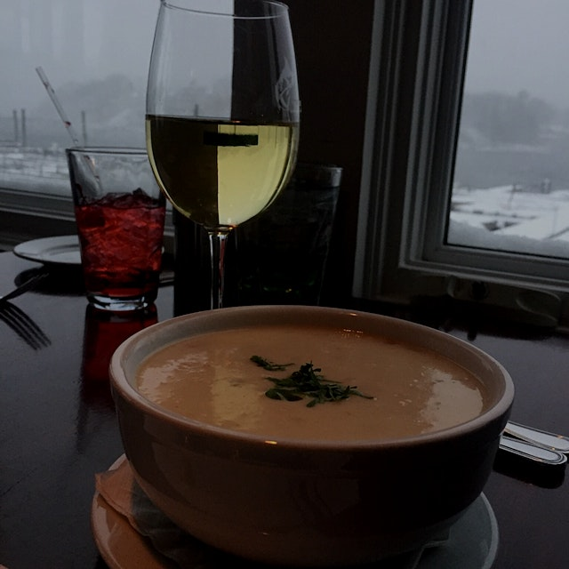 It is still a thrill to eat NE clam chowder IN New England. Today was especially beautiful becaus...