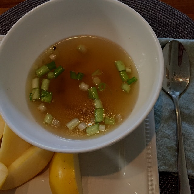 Today, 1/20, I could not seem to eat anything. So, a little homemade broth will have to do.