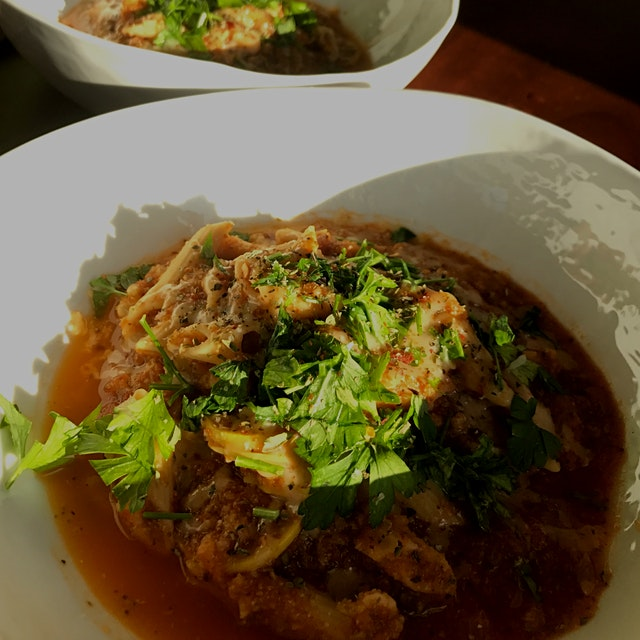 Day 17/30: Eat 5 Servings of Fruits & Veggies Per Day Level IV  Made a quick sauce to go with chi...