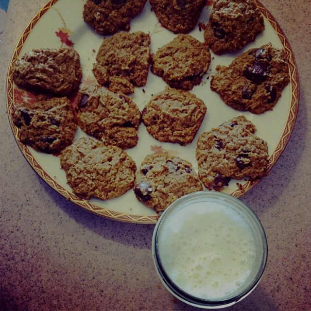 Homemade cookies and raw milk before bed? Yes, please :)