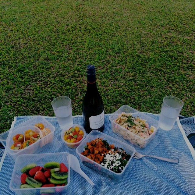 Love a picnic watching the sunset with views of the city skyline