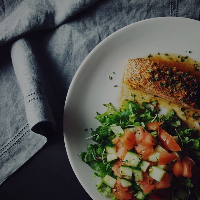 Simplicity at its best...Sesame Salmon and Salad.  Always a dinner favorite:)