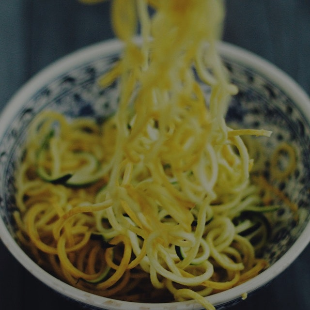 Zoodles! Zucchini noodles!