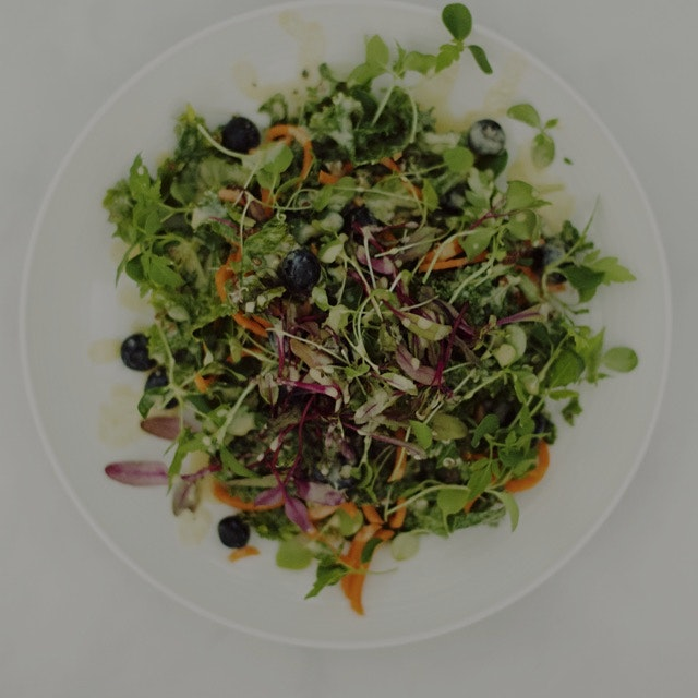 Micro green salad with a tahini & Honey dressing made earlier today!