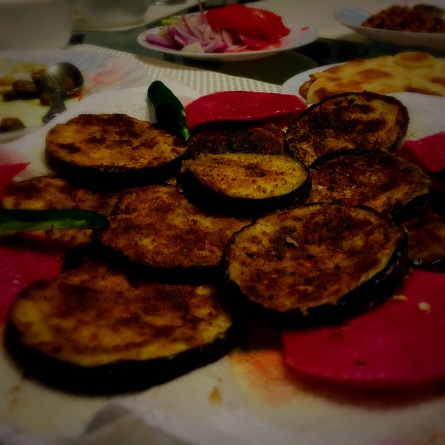 My first post, using fresh veggies grown by @Rachna 's family! So good!