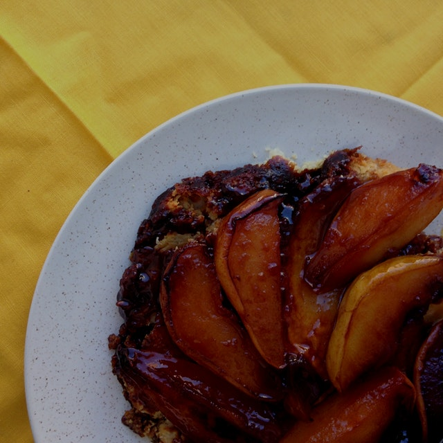 Pear tarte tatin. Happy fall!