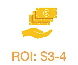 ROI: $3-4