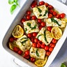 Simple Baked Cod with Tomatoes & Basil