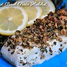 Walnut Basil Pesto Halibut