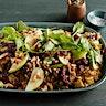 Quinoa, Roasted Eggplant and Apple Salad with Cumin Vinaigrette