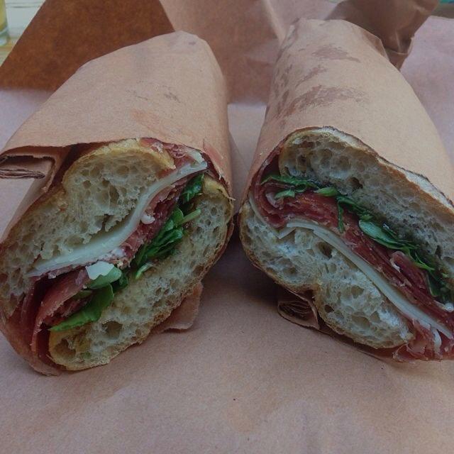 Amazing ham sandwich with fig spead at Bierkraft