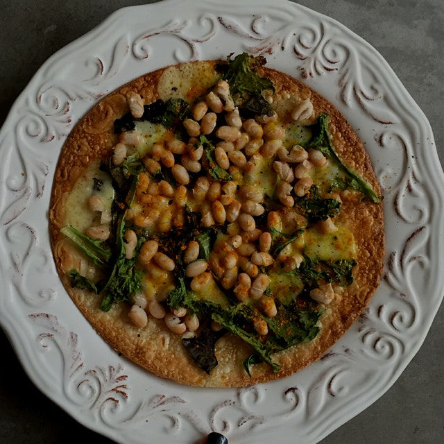 Used leftover beans when making soup for his pizza! DELISH pizza topping and a dose of protein. W...