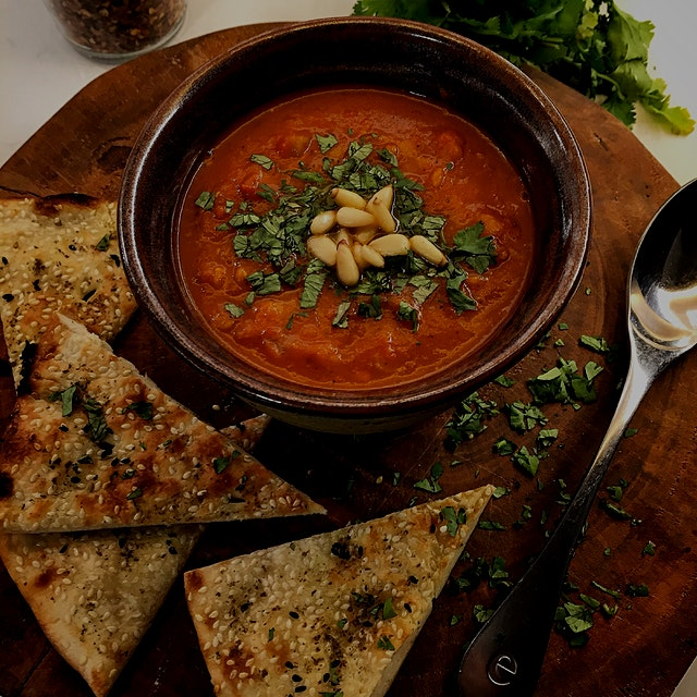 Moroccan Meatless Monday. Those tomatoes that were looking sad, wrinkled and oh a tad too ripe we...