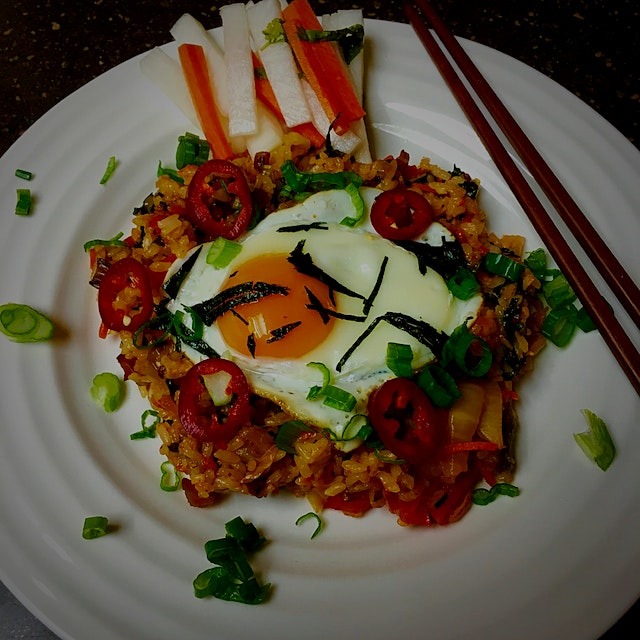 #NoFoodWaste Korean Kimchi Fried Rice. We love this easy, yummy, and no waste meal as you can add...
