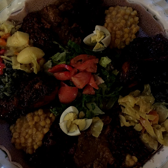 My favourite Ethiopian cuisine - so spicy and delicious!