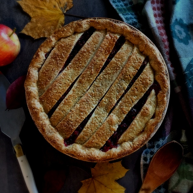 Sure cranberry sauce goes with turkey dinner. How 'bout cranberries in your pie instead!      Cra...