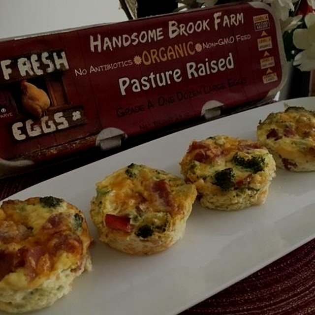 Turkey Bacon Cheddar Mini-Quiche recipe and a chance to WIN FREE EGGS FOR A MONTH! Sign up for ou...