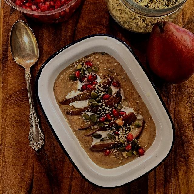 Monday brekkie. Healthy start with cream of Einkorn!
