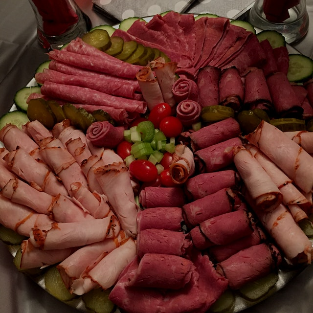 Cold cuts platter for my zumba holiday party