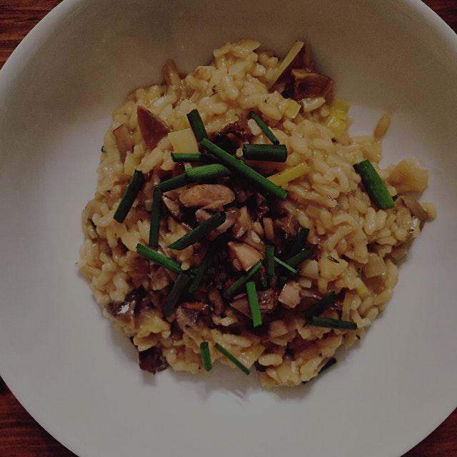 Warming my insides with mushroom risotto 🍄