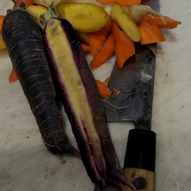 I'm not sure where to begin on how much I love these carrots from wake Robin farm in Stratham NH ...
