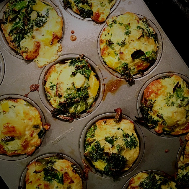 Prepping breakie for the week. These little savory Egg muffins are filling, delicious, an can be ...