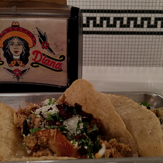 My favorite place for California-style Mexican food in NYC! Wanted nachos, but tacos are always a...
