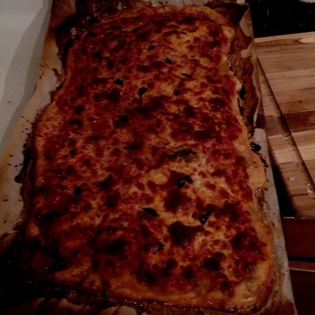 Homemade pizza with a Rosemary crust  http://m.surlatable.com/product/PRO-183270/Sur+La+Table+Cor...