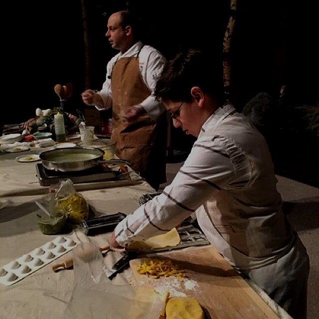 My son helped me with a fresh pasta / ravioli demo at NYS museum. He's the hardest working 10yr o...