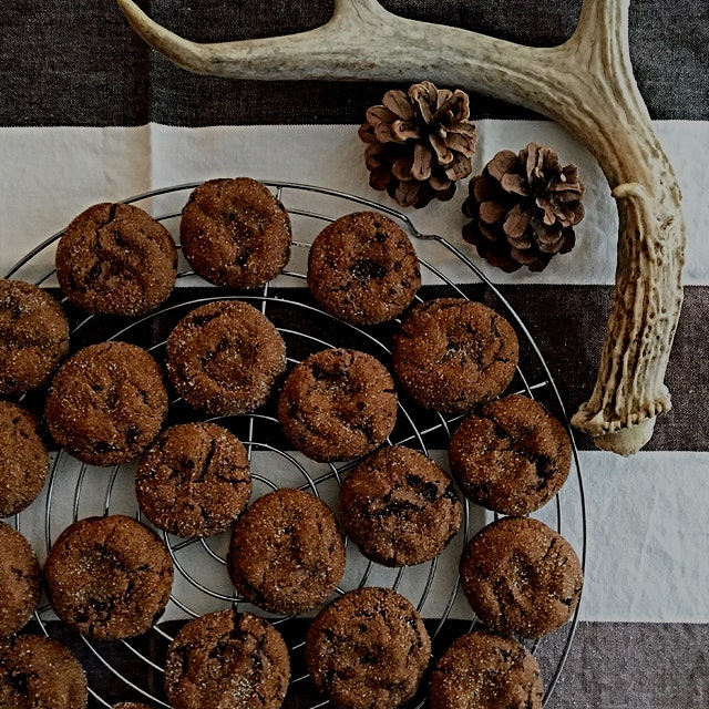 Chewy Gingerbread Chocolate Cookies. I add a touch of cayenne, as a little warm surprise! Link to...
