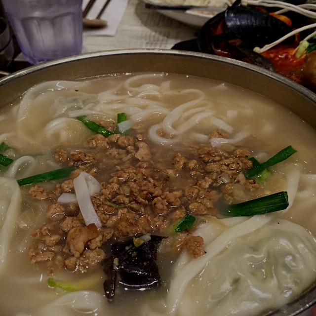 Korean noodle soup is my favorite way to stay warm and happy during the cold months!