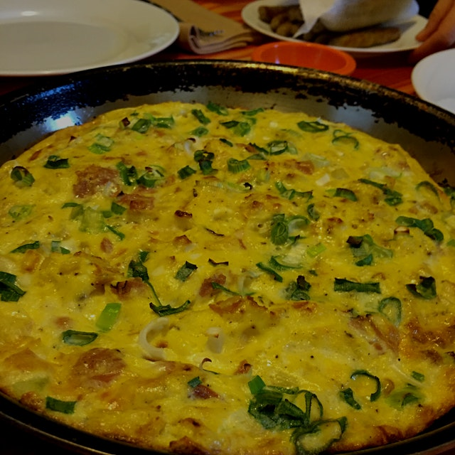 Eating out is nice, but nothing beats my aunt's frittata!