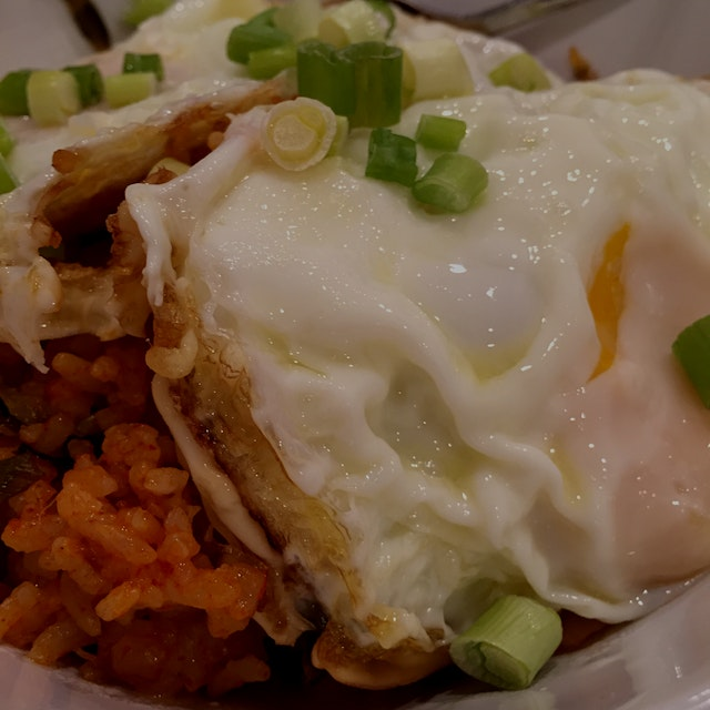 Homemade kimchi fried rice always hits the spot!