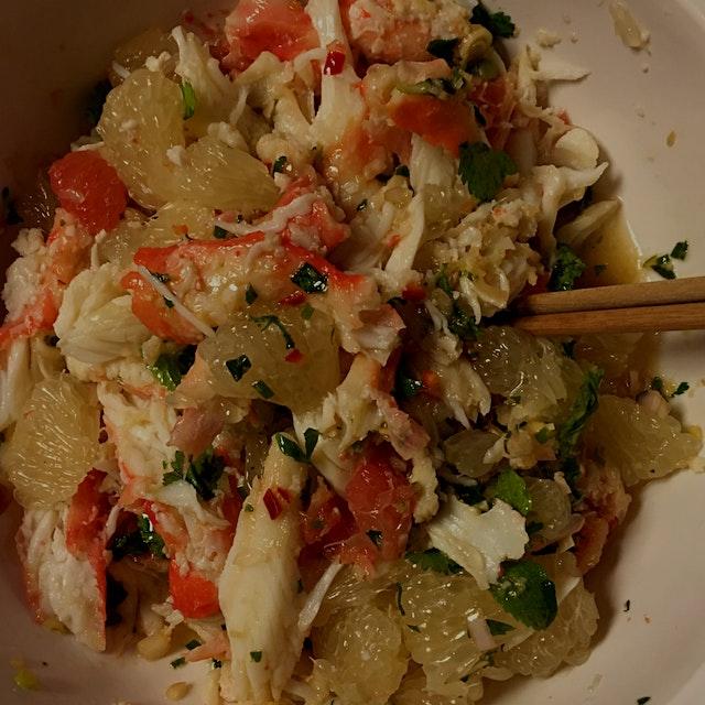 King crab and pomelo salad #GiftGoodEats